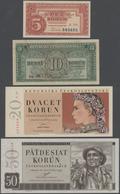 Czechoslovakia / Tschechoslowakei: Huge Lot With 25 Banknotes 1 - 1000 Korun 1949-1989, P.68-71a, 78 - Czechoslovakia