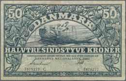 Denmark  / Dänemark: 50 Kroner 1942 P. 32d In Condition: VF. - Denmark