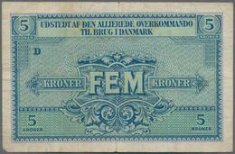 Denmark  / Dänemark: Set Of 3 Pcs Military Payment Notes Containing 25 Oere, 1 & 5 Kroner ND P. M1-M - Denmark