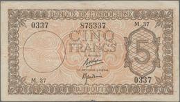 Djibouti / Dschibuti: Banque De L'Indochine 5 Francs ND(1945), P.14, Still Strong Paper With A Few M - Djibouti