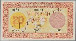 Djibouti / Dschibuti: Banque De L'Indochine - Djibouti 20 Francs ND(1945) SPECIMEN, P.15s With Teo T - Djibouti