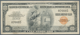 Dominican Republic / Dominikanische Republik: 100 Pesos ND(1947-50), P.65b, Very Nice And Rare Note - Dominicana