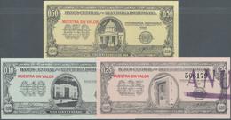 Dominican Republic / Dominikanische Republik: Set With 10, 25 And 50 Centavos ND(1961-62) SPECIMEN, - Dominicana