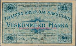Estonia / Estland: Tallinna Arvekoja (Clearing House In Tallinnn/Reval) 50 Marka 1919 With Issued Br - Estonia