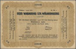 Estonia / Estland: Eesti Wabariigi 50 Marka 1919, P.8, Still Nice For This Large Size Type With Smal - Estonia