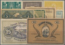 Estonia / Estland: Very Nice Set With 9 Banknotes 5, 10, 20 And 50 Penni ND(1919), 1, 3, 5, 10 And 2 - Estonia