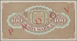 Estonia / Estland: Front And Reverse Specimen Proof For The 100 Marka 1923, P.51s, Both In Exellent - Estonia