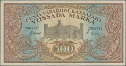 Estonia / Estland: Eesti Vabariigi 500 Marka 1923, P.52a, Highest Denomination Of This Series In Gre - Estonia