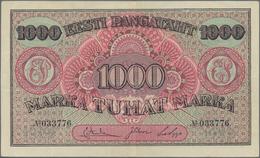 Estonia / Estland: Eesti Pangatäht 1000 Marka 1922, P.59a, Great Condition With Crisp Paper, Just A - Estonia