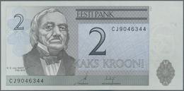 Estonia / Estland: Lot With 60 Banknotes Containing 20 X 2 Krooni 2007 With Running Serial Numbers P - Estonia