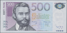"Estonia / Estland: Nice Set With 8 Banknotes Comprising 25 Krooni 2002 Replacement Note Series ""ZZ"", - Estonia"