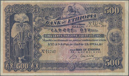 Ethiopia / Äthiopien: Bank Of Ethiopia 500 Thalers 1932, P.11, Great And Very Popular Note In Nice C - Ethiopia