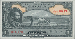 Ethiopia / Äthiopien: State Bank Of Ethiopia Set With 3 Banknotes 1 Dollar ND(1945 With Signature Bl - Ethiopia