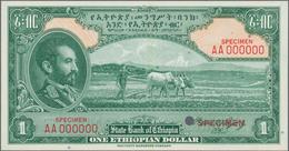 Ethiopia / Äthiopien: State Bank Of Ethiopia 1 Dollar ND(1945) Uniface Color Trial SPECIMEN Of Front - Ethiopia
