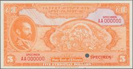 Ethiopia / Äthiopien: State Bank Of Ethiopia 5 Dollars ND(1945) Uniface Color Trial SPECIMEN Of Fron - Ethiopia
