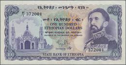 Ethiopia / Äthiopien: State Bank Of Ethiopia 100 Dollars ND(1961) Signature Title: Acting Governor, - Ethiopia