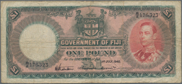 Fiji: Government Of Fiji 1 Pound 1940, P.39c, Minor Margin Splits, Stained Paper And Several Folds. - Fiji