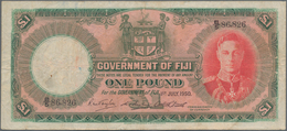 Fiji: Government Of Fiji 1 Pound 1950, P.40e, Still Nice With Tiny Pinholes Ans Minor Margin Split. - Fiji