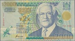 "Fiji: Reserve Bank Of Fiji 2000 Dollars ""Millennium"" Commemorative Issue 2000, P.103, Highest Denomi - Fiji"