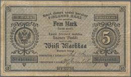 Finland / Finnland: 5 Markkaa 1878, P.A43, Still Great Original Shape With A Few Folds And Lightly T - Finland