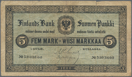 Finland / Finnland: 5 Markkaa 1886, P.A50, Small Border Tear At Upper Margin And A Number Of Folds A - Finland