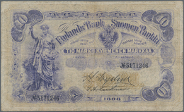 Finland / Finnland: 10 Markkaa 1898, P.3c, Very Nice Note With Still Strong Paper And Some Minor Spo - Finland