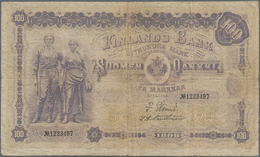 Finland / Finnland: 100 Markkaa 1898, P.7c, Still Nice And Rare Banknote, Tiny Border Tears, Lightly - Finland