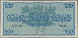 Finland / Finnland: Pair With 100 Markkaa 1909 P.22 (F) And 500 Markkaa 1956 P.96 (XF). (2 Pcs.) - Finland
