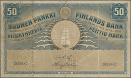 Finland / Finnland: 50 Markkaa 1918, P.39, Lightly Stained At Left And Some Small Border Tears. Cond - Finland