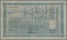 Finland / Finnland: 500 Markkaa 1945, Litt. A, P.81a, Beautiful Note With Tiny Border Tears At Left - Finland