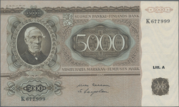 Finland / Finnland: 5000 Markkaa 1945, Litt. A, P.83, Outstanding Condition With Strong Paper And Br - Finland