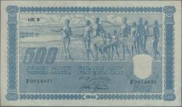 Finland / Finnland: 500 Markkaa 1945, Litt. B, P.89, Great Original Shape With A Few Folds And Minor - Finland
