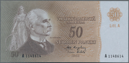Finland / Finnland: 50 Markkaa 1963, P.105, Almost Perfect With A Soft Vertical Bend At Center. Cond - Finland
