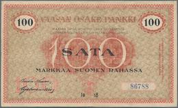 Finland / Finnland: Vaasan Osake Pankki / Wasa Aktie Bank 100 Markkaa 1918, P.S112, Still Strong Pap - Finland