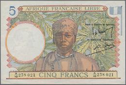 French Equatorial Africa / Französisch-Äquatorialafrika: Afrique Française Libre 5 Francs ND(1941), - Equatorial Guinea