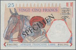 French Equatorial Africa / Französisch-Äquatorialafrika: Afrique Française Libre 25 Francs ND(1941) - Equatorial Guinea