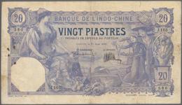 French Indochina / Französisch Indochina: Banque De L'Indo-Chine - Saïgon 20 Piastres 1920, P.41, St - Indochina