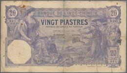 French Indochina / Französisch Indochina: Banque De L'Indo-Chine - Saïgon 20 Piastres 1920, P.41, Al - Indochina