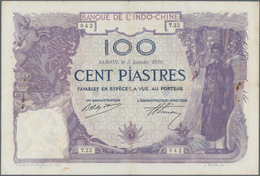 French Indochina / Französisch Indochina: Banque De L'Indo-Chine - Saïgon 100 Piastres 1920, P.42, S - Indochina