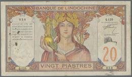 French Indochina / Französisch Indochina: Banque De L'Indochine 20 Piastres ND(1928-31), P.50, Large - Indochina