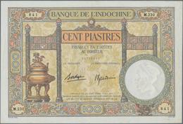 French Indochina / Französisch Indochina: Banque De L'Indochine 100 Piastres ND(1925-39) With Signat - Indochina