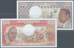Gabon / Gabun: Republique Gabonaise 500 Francs 1978 And 1000 Francs 1983, P.2b, 3d, Both In UNC Cond - Gabon