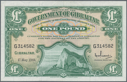 Gibraltar: 1 Pound 1965 P. 18a, Used With Some Folds In Paper, No Holes Or Tears, Crisp And Clean Pa - Gibraltar
