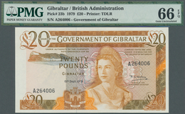Gibraltar: Government Of Gibraltar 20 Pounds September 15th 1979, P.23b In Perfect Uncirculated Cond - Gibraltar