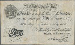 "Great Britain / Großbritannien: 5 Pounds 1936 ""Bernhard"" Forgery, London Branch, Signature K.O. Pepi - Gran Bretagna"