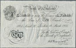 Great Britain / Großbritannien: Set Of 2 Banknotes Bernhard Forgeries Containing 5 & 10 Pounds 1935 - Gran Bretagna