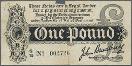 Great Britain / Großbritannien: 1 Pound ND(1914) P. 347, Very Strong Center Fold And Further Vertica - Gran Bretagna