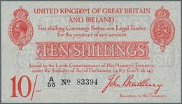 Great Britain / Großbritannien: 10 Shillings ND P. 348, T12, 4 Tiny Pinholes At Upper Left, Light Ve - Gran Bretagna