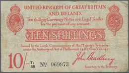 Great Britain / Großbritannien: 10 Shillings ND(1915) P. 348a, Several Folds And Creases In Paper, S - Gran Bretagna