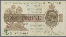 Great Britain / Großbritannien: 1 Pound 1922 P. 359a, Used With Some Folds And Light Stain, No Holes - Gran Bretagna